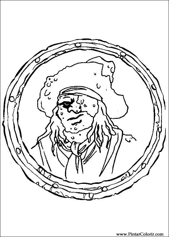 Dibujos para pintar y Color Piratas del Caribe - Imprimir Diseño 006