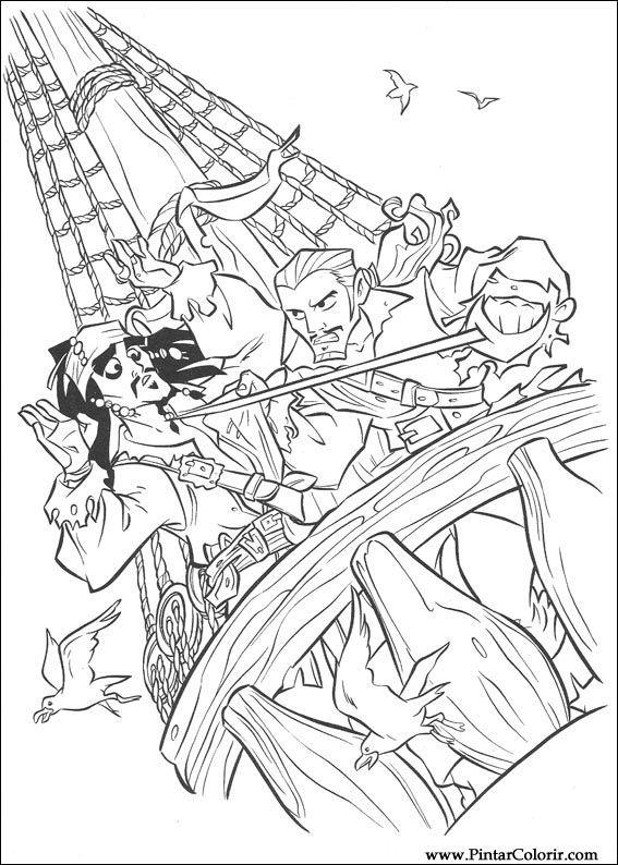 Disegni Di Dipingere E Di Colore Pirati Dei Caraibi Stampare Realizzazione 028