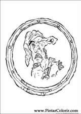 Pintar e Colorir Piratas Do Caribe - Desenho 001