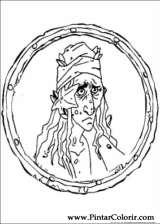 Pintar e Colorir Piratas Do Caribe - Desenho 002