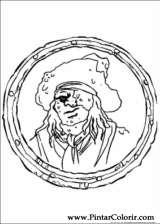 Pintar e Colorir Piratas Do Caribe - Desenho 006