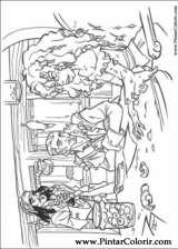 Pintar e Colorir Piratas Do Caribe - Desenho 007