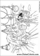 Pintar e Colorir Piratas Do Caribe - Desenho 009