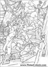Pintar e Colorir Piratas Do Caribe - Desenho 010