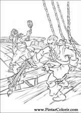 Pintar e Colorir Piratas Do Caribe - Desenho 011