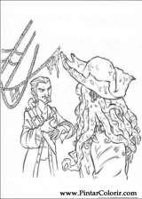 Pintar e Colorir Piratas Do Caribe - Desenho 012