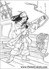 Pintar e Colorir Piratas Do Caribe - Desenho 013