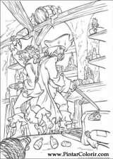 Pintar e Colorir Piratas Do Caribe - Desenho 014
