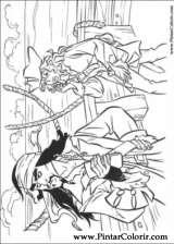 Pintar e Colorir Piratas Do Caribe - Desenho 017