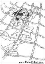 Pintar e Colorir Piratas Do Caribe - Desenho 018