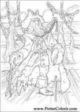 Pintar e Colorir Piratas Do Caribe - Desenho 019