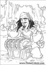 Pintar e Colorir Piratas Do Caribe - Desenho 024