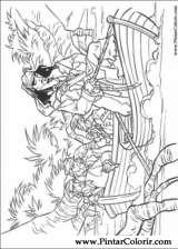 Pintar e Colorir Piratas Do Caribe - Desenho 026