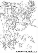 Pintar e Colorir Piratas Do Caribe - Desenho 031
