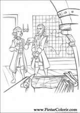 Pintar e Colorir Piratas Do Caribe - Desenho 033