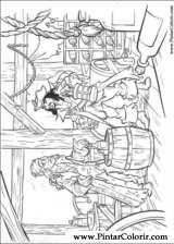 Pintar e Colorir Piratas Do Caribe - Desenho 037