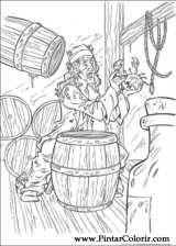 Pintar e Colorir Piratas Do Caribe - Desenho 038