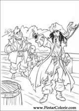 Pintar e Colorir Piratas Do Caribe - Desenho 039