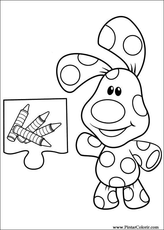 Dibujos para pintar y Color Azul pistas - Imprimir Diseño 013