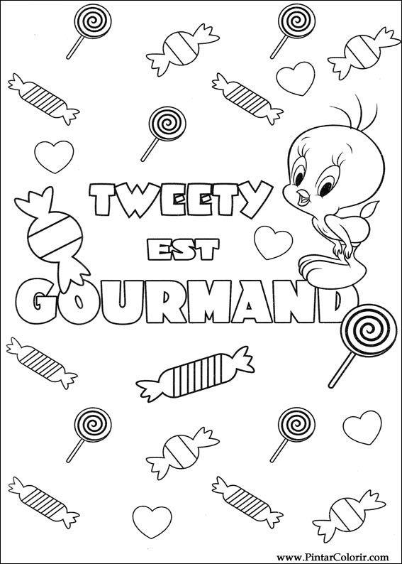 Dibujos Para Pintar Y Color Tweety Imprimir Diseño 031