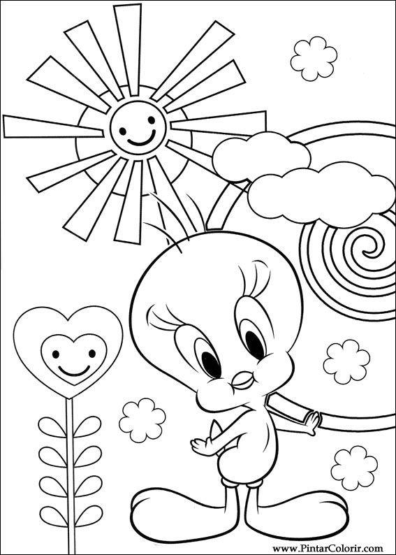 Dibujos para pintar y Color Tweety - Imprimir Diseño 034