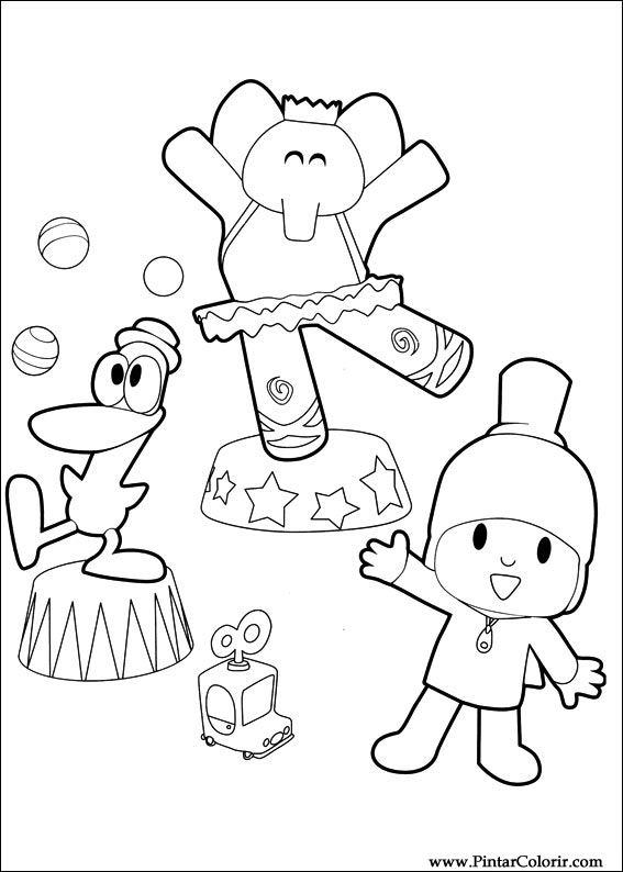 Desenhos Para Pintar E Colorir Pocoyo Imprimir Desenho 020