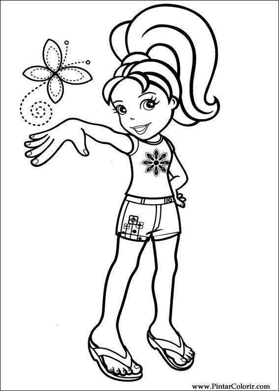 drawings to paint colour polly pocket print design 001