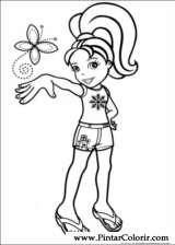 Pintar e Colorir Polly Pocket - Desenho 001