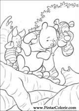Pintar e Colorir Pooh E O Efalante - Desenho 007