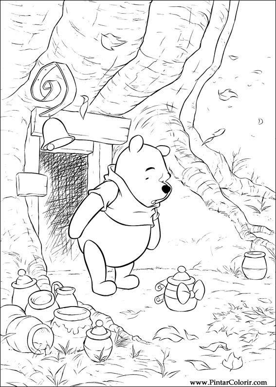 Desenhos Para Pintar E Colorir Pooh Imprimir Desenho 016