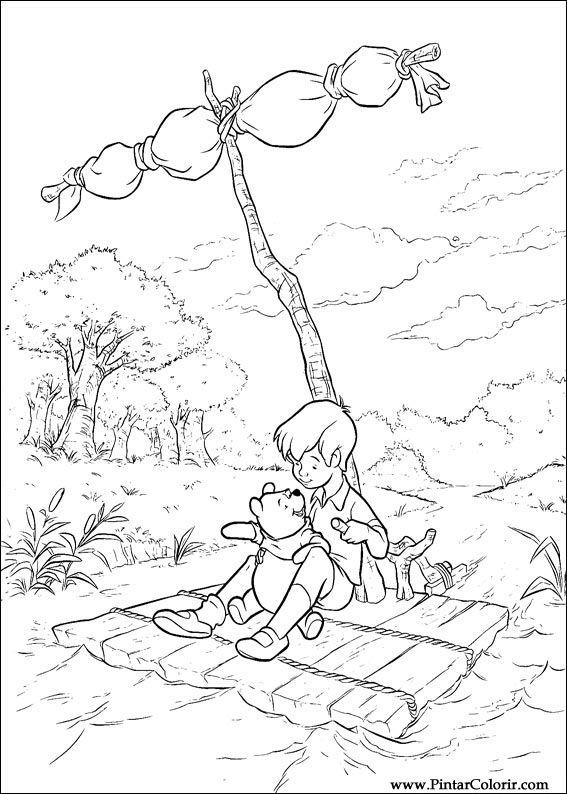 Pintar e Colorir Pooh - Desenho 043