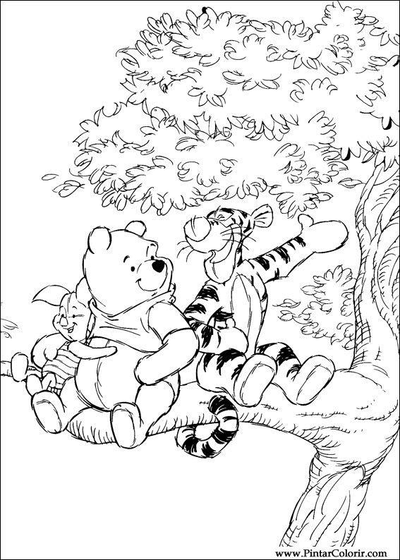 Pintar e Colorir Pooh - Desenho 044