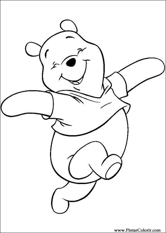Drawings To Paint & Colour Pooh - Print Design 077