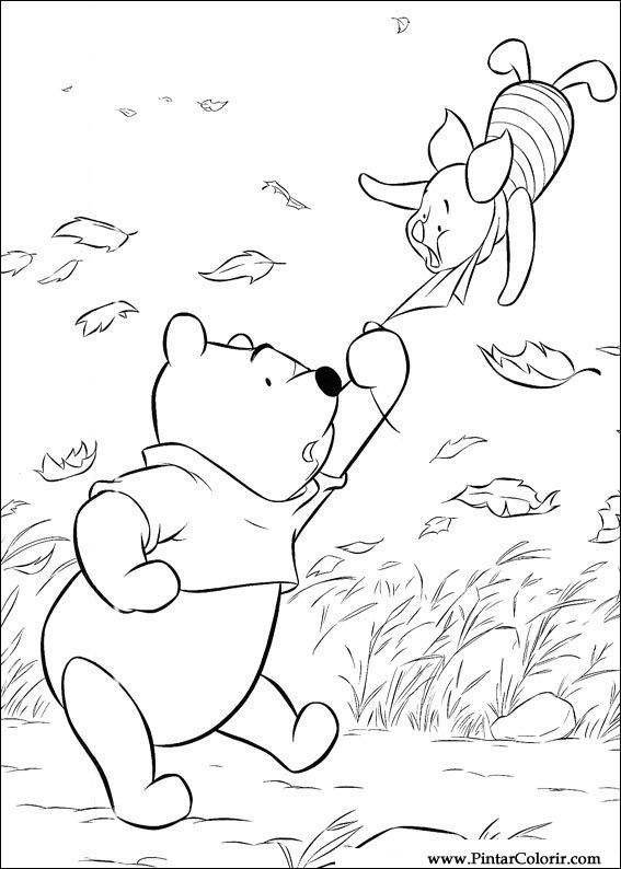 Pintar e Colorir Pooh - Desenho 111
