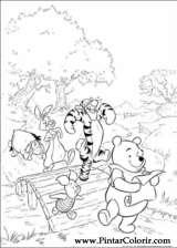 Pintar e Colorir Pooh - Desenho 002
