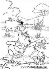 Pintar e Colorir Pooh - Desenho 003