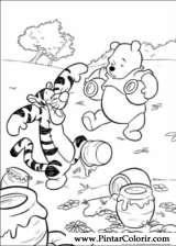 Pintar e Colorir Pooh - Desenho 004