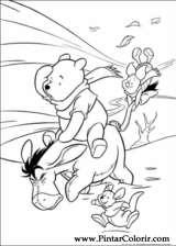 Pintar e Colorir Pooh - Desenho 007