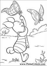 Pintar e Colorir Pooh - Desenho 028