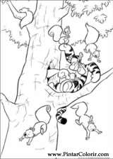 Pintar e Colorir Pooh - Desenho 035