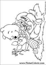 Pintar e Colorir Pooh - Desenho 069
