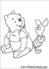 Pintar e Colorir Pooh - Desenho 075