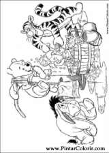 Pintar e Colorir Pooh - Desenho 084