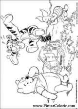 Pintar e Colorir Pooh - Desenho 086