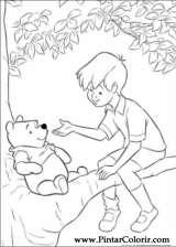 Pintar e Colorir Pooh - Desenho 098