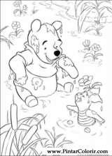 Pintar e Colorir Pooh - Desenho 102