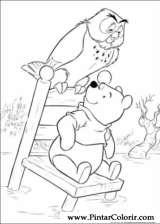 Pintar e Colorir Pooh - Desenho 103