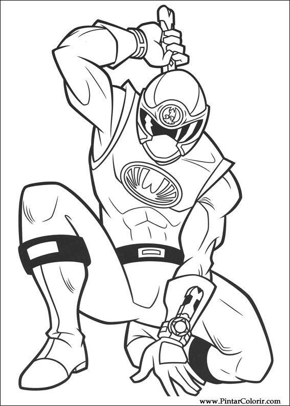 çizimler Boya Ve Renk Power Rangers Için Baskı Tasarım 001