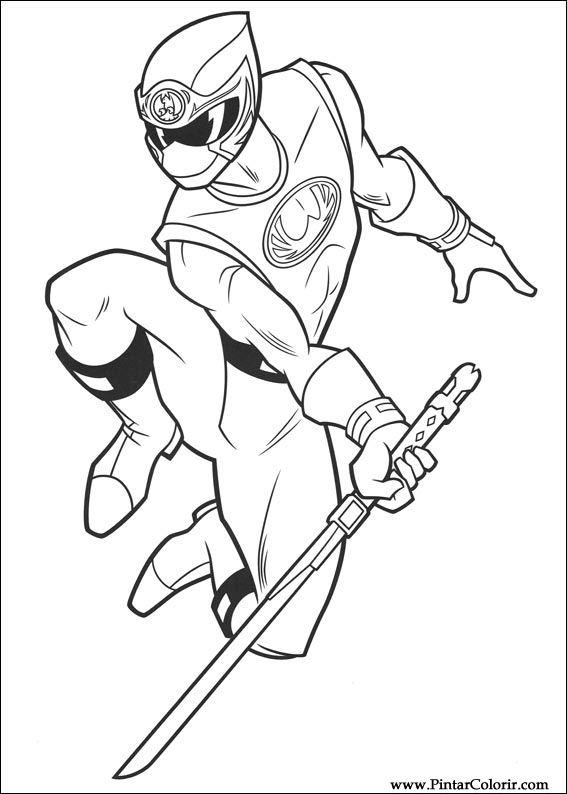 çizimler Boya Ve Renk Power Rangers Için Baskı Tasarım 003