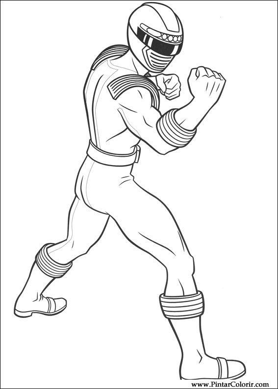 çizimler Boya Ve Renk Power Rangers Için Baskı Tasarım 007